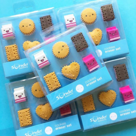 NL - Eraser set Milk & Cookies (6 PCS)