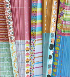 DIY - Lucky star paper mixed patterns - 20 PACKS