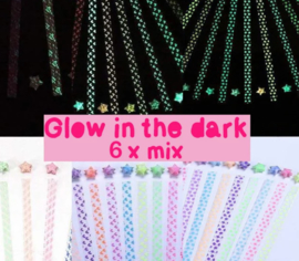 DIY - Lucky star paper glow in the dark - 20 PACKS