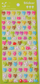 EU - Stickersheet puffy cute bear (5 PCS)