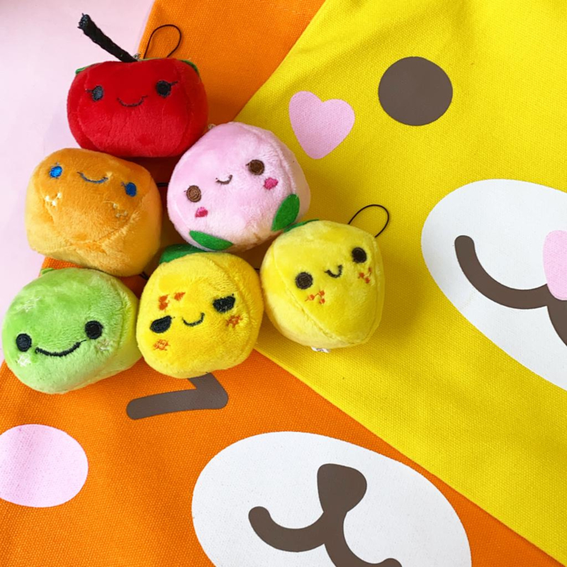 Plushie Soft Kawaii Fruit - Mixed Colours - 12 PCS