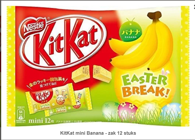 KitKat mini Banana - 6 PCS LOT