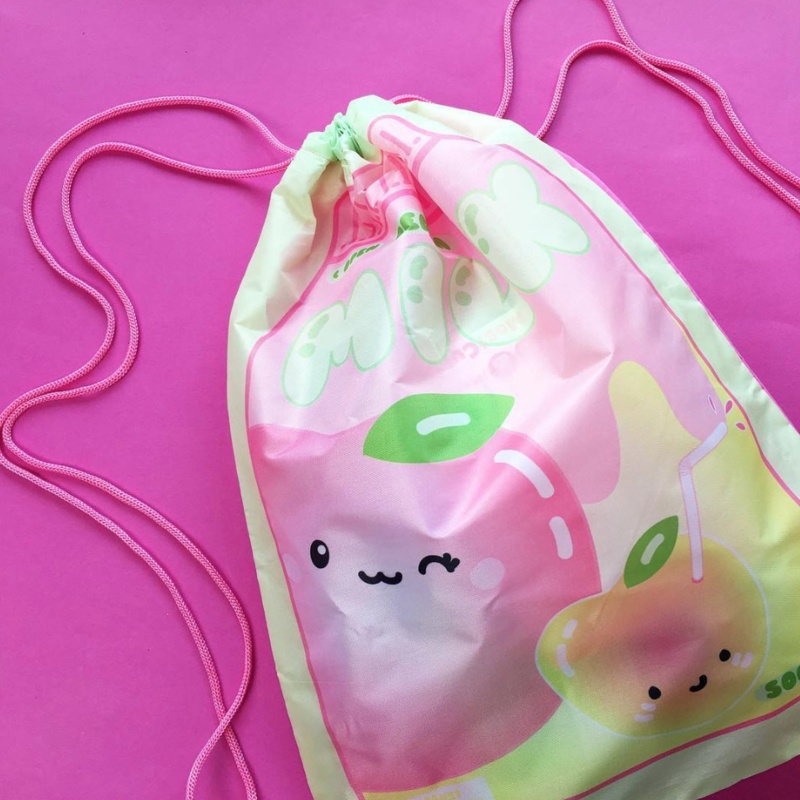 MostCutest.nl Kawaii Peach Milk Drawstring bag (6 PCS)