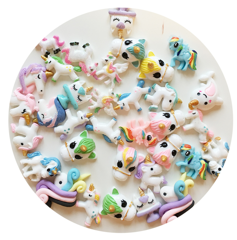 DIY - UNICORN Cabochons Mix (100 PCS BAG)