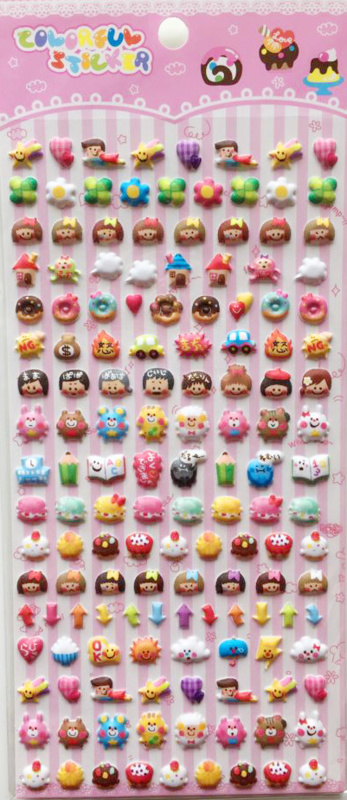 Stickersheet puffy food & friends (5 PCS)
