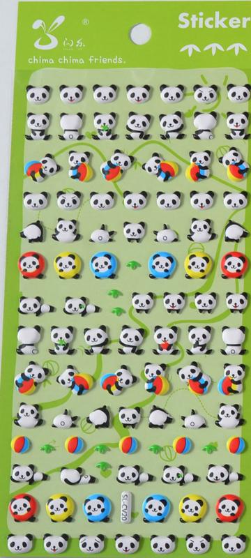 EU - Stickersheet puffy panda (5 PCS)