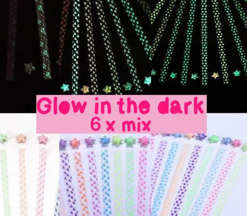 DIY - Lucky star paper glow in the dark - 20 PACKS