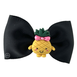 Haarstrik zwart met ananas