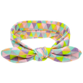 Knoop - wrap haarband multicolor driehoek
