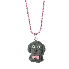 Kinderketting met hondje grijs