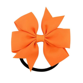 Elastiek met strik oranje