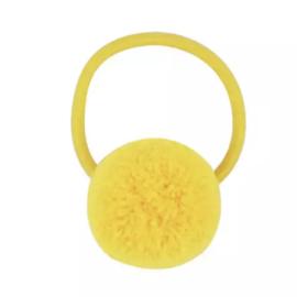 Pompom elastiek geel