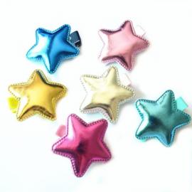 Haarlokspeld metallic ster