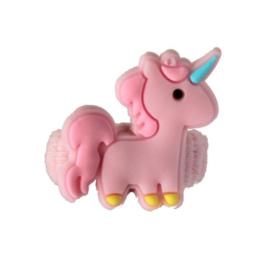Badstof elastiek unicorn roze