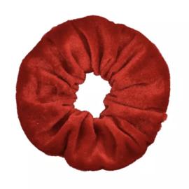 Scrunchie velvet rood