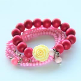 Damesarmband roze