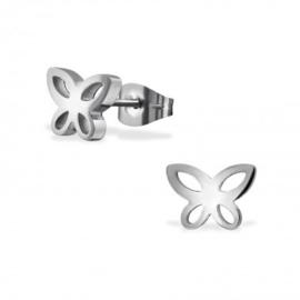 Kinderoorbellen chirurgisch staal vlinder