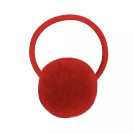 Pompom elastiek rood