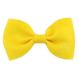 Haarlokspeld met strik geel