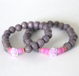 Moeder-dochter set paars/lila