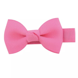 Haarlokspeld met strik klein roze