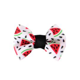 Haarstrik watermeloen wit klein