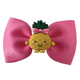 Haarstrik roze met ananas