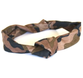 Haarband met knoop camouflage