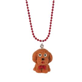 Kinderketting met hondje bruin