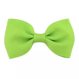 Haarlokspeld met strik groen