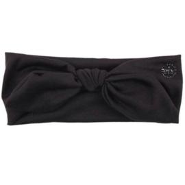 Knoop - wrap haarband effen zwart