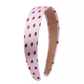Diadeem breed pink met dots