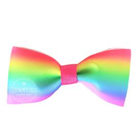 Haarlokspeld met strik rainbow