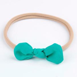 Haarbandje met strik groen