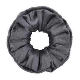 Scrunchie velvet grijs