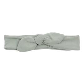 Knoop - wrap haarband effen grijs
