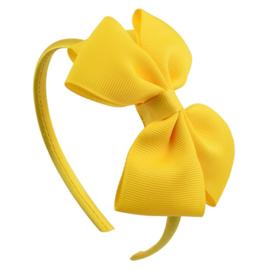 Diadeem met strik geel