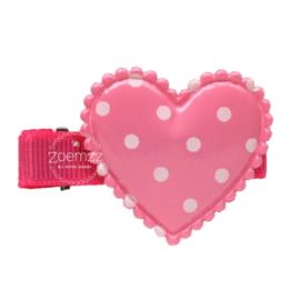 Haarlokspeld valentijn roze