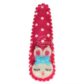 Haarspeldje met konijntje roze
