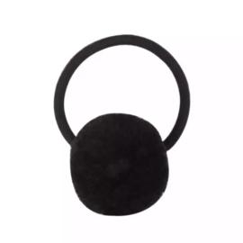 Pompom elastiek zwart