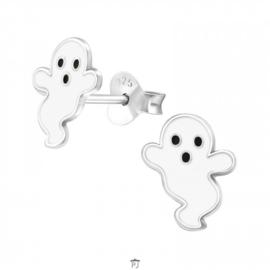 Zilveren kinderoorbellen spookje