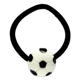 Haarelastiek met voetbal