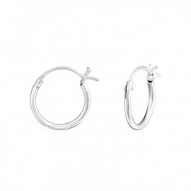 Zilveren creolen ringetjes clicksluiting