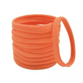 Basis haarelastiek neon oranje