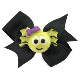 Haarstrik baby zwart met spinnetje