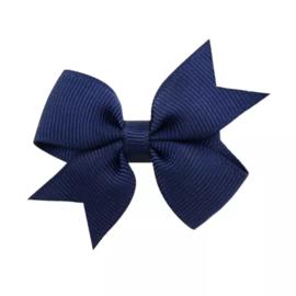 Haarstrik klein donkerblauw