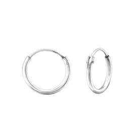 Zilveren creolen ringetjes
