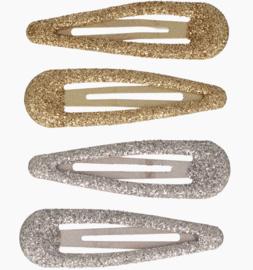 Set basis haarspeldjes met glitter