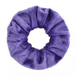 Scrunchie velvet paars