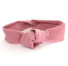Haarband met knoop oud roze